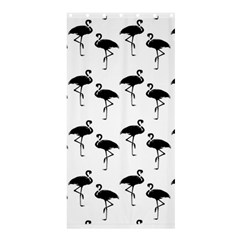 Flamingo Pattern Black On White Shower Curtain 36  x 72  (Stall)