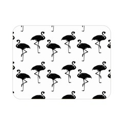 Flamingo Pattern Black On White Double Sided Flano Blanket (mini)