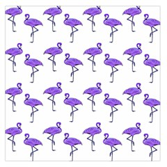 Flamingo Neon Purple Tropical Birds Large Satin Scarf (Square)