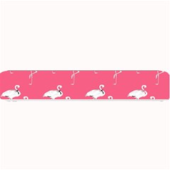 Flamingo White On Pink Pattern Small Bar Mats