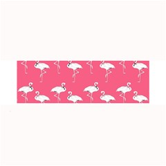 Flamingo White On Pink Pattern Large Bar Mats