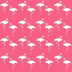 Flamingo White On Pink Pattern Magic Photo Cubes