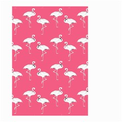 Flamingo White On Pink Pattern Small Garden Flag (Two Sides)