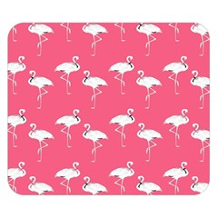 Flamingo White On Pink Pattern Double Sided Flano Blanket (Small)