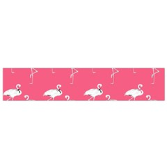 Flamingo White On Pink Pattern Flano Scarf (Small)