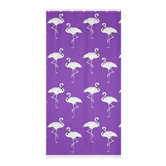 Flamingo White On Lavender Pattern Shower Curtain 36  x 72  (Stall)