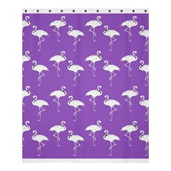 Flamingo White On Lavender Pattern Shower Curtain 60  x 72  (Medium)