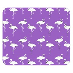 Flamingo White On Lavender Pattern Double Sided Flano Blanket (Small)