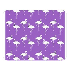 Flamingo White On Lavender Pattern Double Sided Flano Blanket (Large)