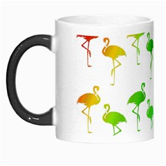 Flamingo Pattern Rainbow  Morph Mugs
