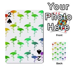 Flamingo Pattern Rainbow  Playing Cards 54 Designs
