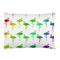 Flamingo Pattern Rainbow  Pillow Cases (two Sides)