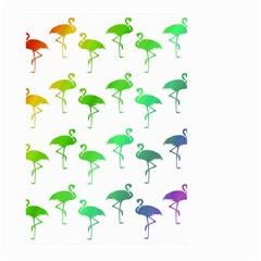 Flamingo Pattern Rainbow  Large Garden Flag (two Sides)