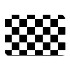 Checkered Flag Race Winner Mosaic Tile Pattern Plate Mats