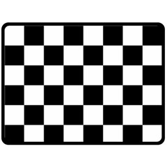Checkered Flag Race Winner Mosaic Tile Pattern Fleece Blanket (large)