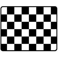 Checkered Flag Race Winner Mosaic Tile Pattern Fleece Blanket (medium)