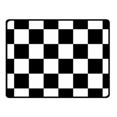 Checkered Flag Race Winner Mosaic Tile Pattern Fleece Blanket (Small)