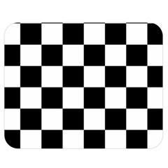 Checkered Flag Race Winner Mosaic Tile Pattern Double Sided Flano Blanket (Medium)