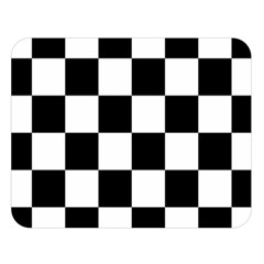 Checkered Flag Race Winner Mosaic Tile Pattern Double Sided Flano Blanket (Large)