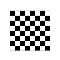 Checkered Flag Race Winner Mosaic Tile Pattern Satin Bandana Scarf