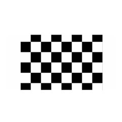 Checkered Flag Race Winner Mosaic Tile Pattern Satin Wrap