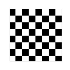Checkered Flag Race Winner Mosaic Tile Pattern Small Satin Scarf (Square)