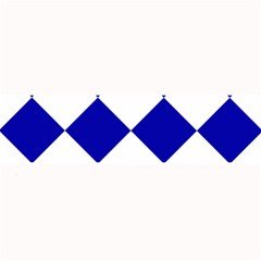 Harlequin Diamond Pattern Cobalt Blue White Large Bar Mats