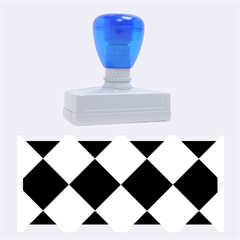 Harlequin Diamond Pattern Cobalt Blue White Rubber Stamps (Large)