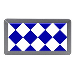 Harlequin Diamond Pattern Cobalt Blue White Memory Card Reader (Mini)