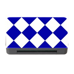 Harlequin Diamond Pattern Cobalt Blue White Memory Card Reader with CF