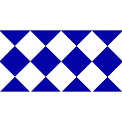 Harlequin Diamond Pattern Cobalt Blue White YOU ARE INVITED 3D Greeting Card (8x4)