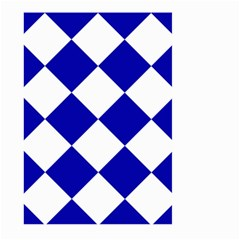 Harlequin Diamond Pattern Cobalt Blue White Large Garden Flag (two Sides)