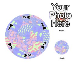 Girls Bright Pastel Abstract Blue Pink Green Playing Cards 54 (round)