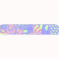 Girls Bright Pastel Abstract Blue Pink Green Small Bar Mat