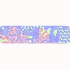 Girls Bright Pastel Abstract Blue Pink Green Large Bar Mat