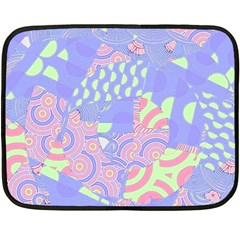 Girls Bright Pastel Abstract Blue Pink Green Fleece Blanket (Mini)