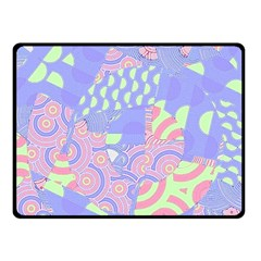 Girls Bright Pastel Abstract Blue Pink Green Fleece Blanket (Small)