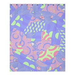 Girls Bright Pastel Abstract Blue Pink Green Shower Curtain 60  X 72  (medium)