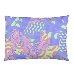 Girls Bright Pastel Abstract Blue Pink Green Pillow Case (Two Sides)