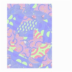 Girls Bright Pastel Abstract Blue Pink Green Small Garden Flag (Two Sides)
