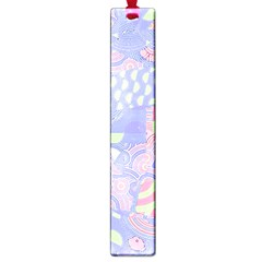 Girls Bright Pastel Abstract Blue Pink Green Large Book Mark