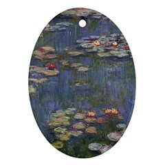 Claude Monet   Water Lilies Ornament (oval)