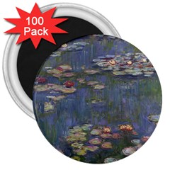 Claude Monet   Water Lilies 3  Magnets (100 Pack)