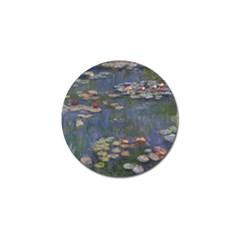 Claude Monet   Water Lilies Golf Ball Marker (10 Pack)