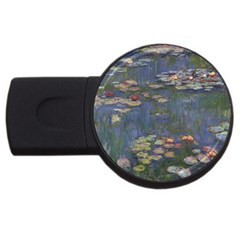 Claude Monet   Water Lilies Usb Flash Drive Round (2 Gb)