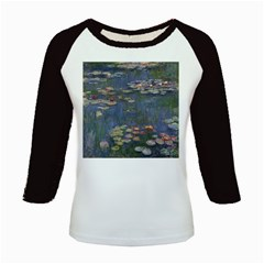 Claude Monet   Water Lilies Kids Baseball Jerseys