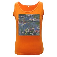 Claude Monet   Water Lilies Women s Dark Tank Tops