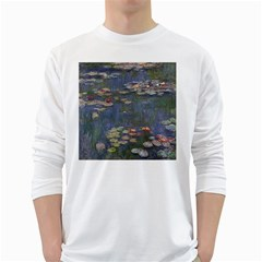 Claude Monet   Water Lilies White Long Sleeve T-Shirts
