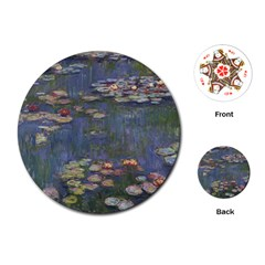 Claude Monet   Water Lilies Playing Cards (Round)