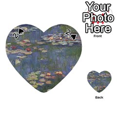 Claude Monet   Water Lilies Playing Cards 54 (Heart)
